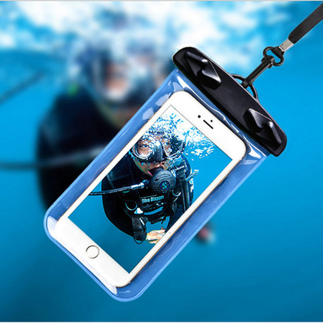 premium selection 9cfd5 8fafc US $3.54 6% OFF|Waterproof Pouch For Samsung Galaxy S5 Mini G800 Water  Proof Diving Bag Outdoor Phone Case Underwater Phone Bag with Neck Strap-in  ...