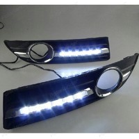 1 Pair Car DRL Turn Signal Style 12V LED Daytime Running Lights Fog Lamp For V