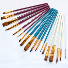 Supplie Paint-Brush Drawing-Tools Acrylic Watercolor-Pen Artist Nylon Wood 6pcs Wooden-Handle