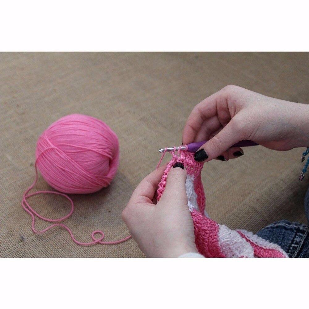 9//11//12Pcs Aluminium Crochet Aiguille à Ttricoter Tricot Laine Needle Hook