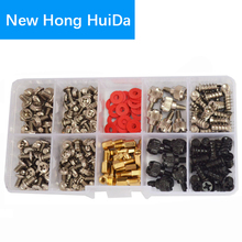 цена на Personal Computer Screws PC Standoff M3 M5 M6 Phillips Head Assortment Kit for Hard Drive Computer Case Motherboard fan power
