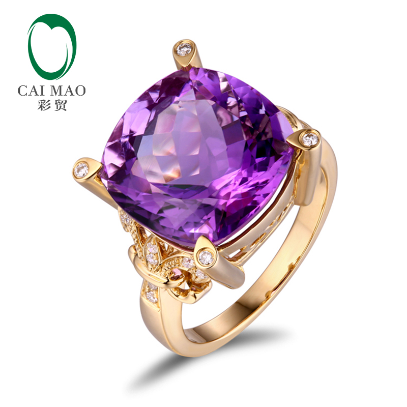 Free shipping 10.90ct Amethyst 18kt Gold 0.16ct Natural Diamond Engagement Ring new free shipping 11 68ct 15mm round purple amethyst 14k gold natural diamond engagement ring