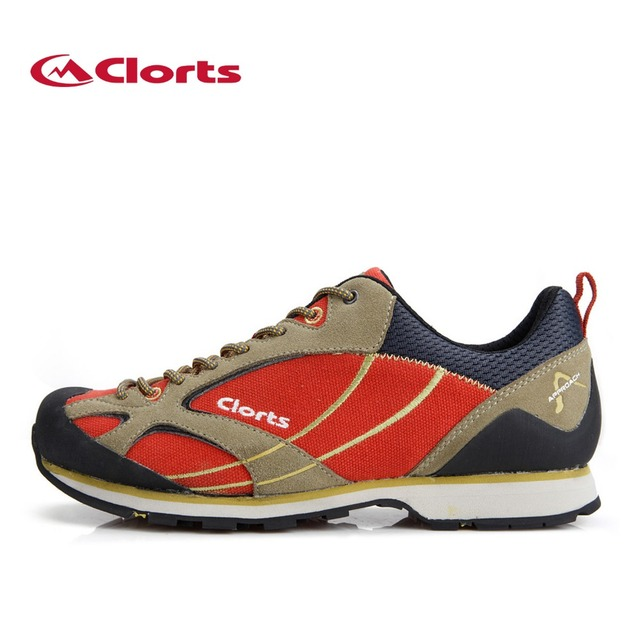 Clorts Mens Approach Shoes Cow Suede Waterproof Outdoor Sports Hiking Shoes Non-slip Climbing Shoes 3E003A/B