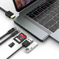 2019 plus récent mode chaud 7 en 1 adaptateur Dock avec 4K HDMI PD USB 3.1 type-c HUB Micro SD/TF Port Charge pour MacBook Air Pro