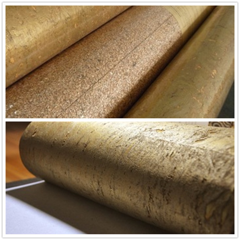 new material interior decoration golden cork wallpaper for luxury hotel design in wallpapers from home improvement on alibaba