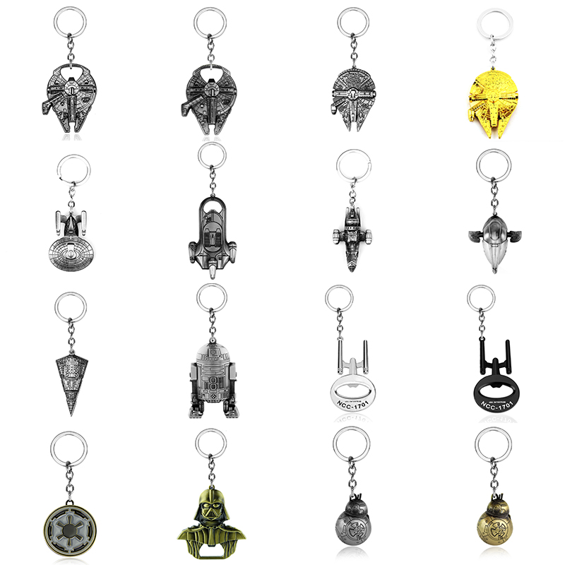 Star Wars Keychain Different Kinds Classic Spaceship Darth Vader Key Chains For Men Alloy R2 D 2 Robot Llavero Chaveiro Jewelry все цены