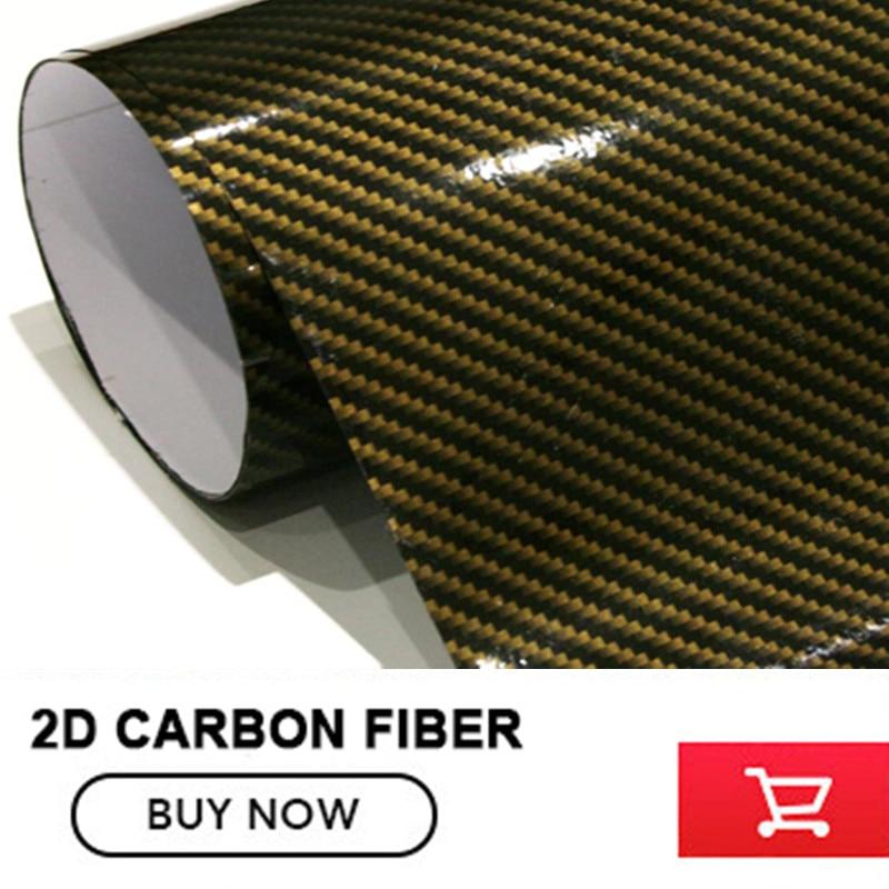5x98FT Gold Black Glossy 2D Carbon Fiber Vinyl Film Auto Wrapping ...