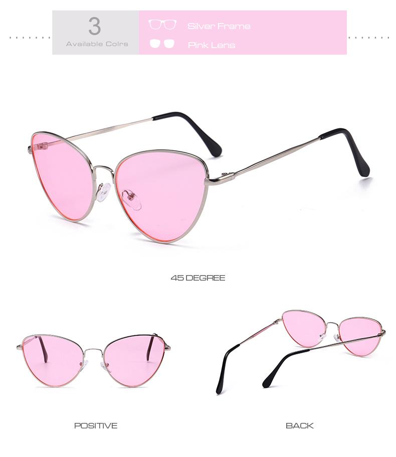 Gafas de sol de ojo de gato Vintage pequeñas y sexis para mujer 7