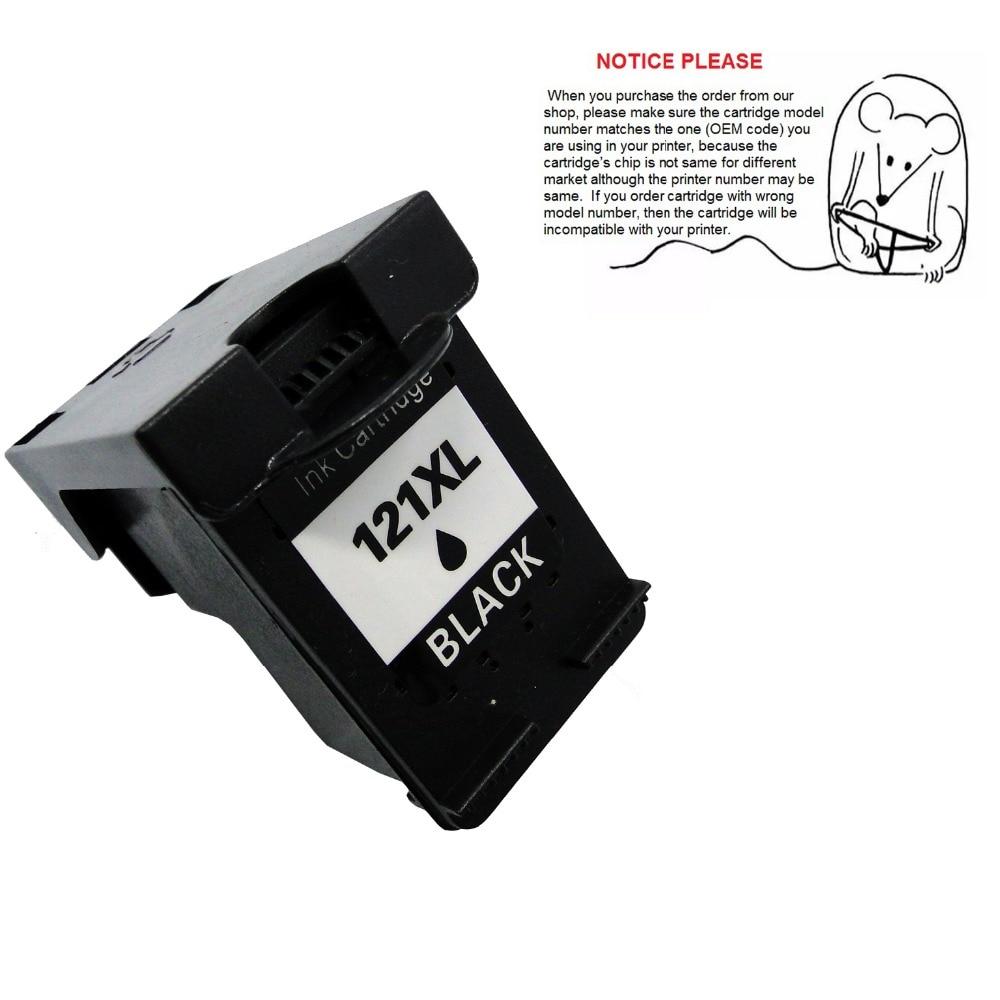 1pcs Black ink cartridge CC640HE CC641HE for HP121 HP121XL HP Deskjet F2530 F2545 2560 F2568 F4240 F4280 F4288 printer 2pcs compatible ink cartridge hp121xl hp121 for deskjet f4210 f4213 f4240 f4272 f4275 f4280 f4283 f4288 f4500 f4580 f4583