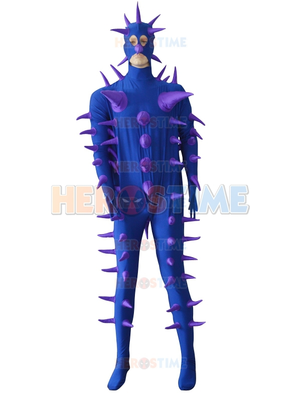 Super Cool Fantasy Purple Hedgehog Custom Costume Halloween Fullbody Spandex Custom Super Costumes Free Shipping