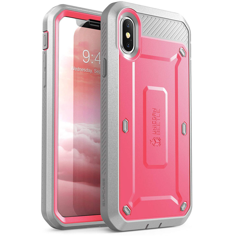 Image 4 - SUPCASE For iPhone Xs Case UB Pro Series Full Body Rugged Holster Clip Cover with Built in Screen Protector For iPhone X CaseFitted Cases   -