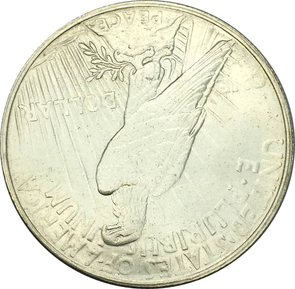 1934 D Peace One Dollar United States Of America Coins Brass Silver Plated Copy Craft Coin