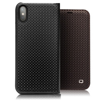 QIALINO Fashion Genuine Leather Case For IPhone X Handmade Flip Bag Cover For IPhone X Luxury
