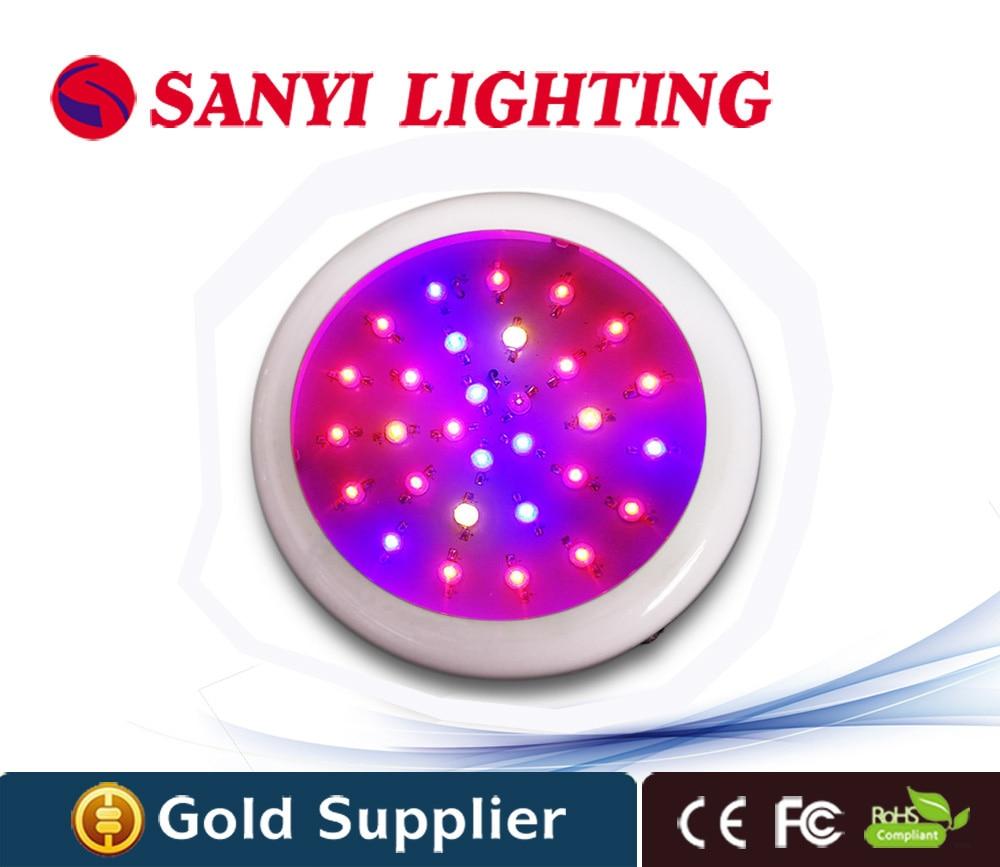 ФОТО Hydroponic 30W UFO LED Plant Grow Light with High Efficiency 6 Band Indoor Greenhouse Lamp