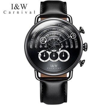 CARNIVAL New Men's Chronograph Analog Quartz Watch Sport Watch men 24hours display Sapphire Waterproof Fashion relogio masculino