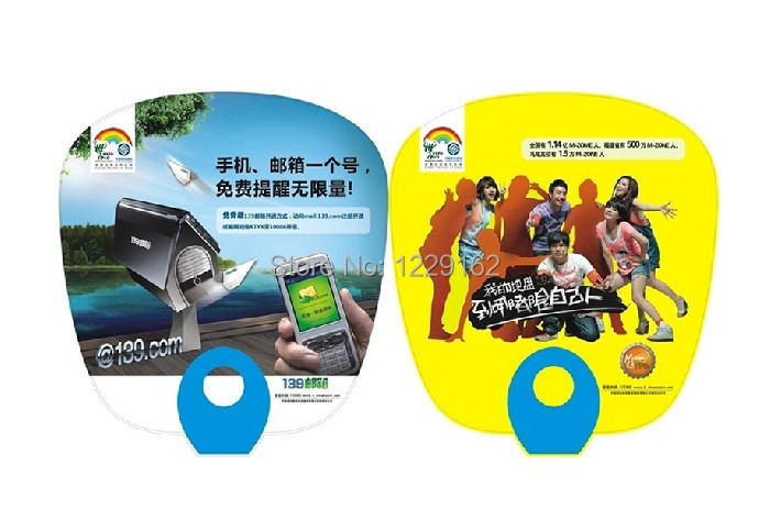 Customized logo printing 1000pcs lot PP Plastic fan for advertising and promotion summer cool hand fan