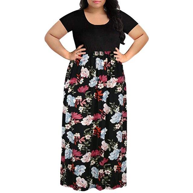 Summer Women Dress Plus...