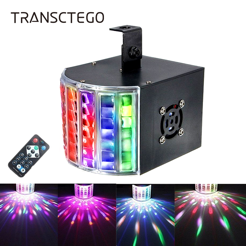 18W Led Laser Disco Light DMX 512 DJ RGB Party Lamp Sound Actived Disco Lamp Moving Head Projector Strobe Christmas Stage Light 2pcs par 24w rgb led stage light disco dj bar christmas wedding party laser projector lighting dmx 512 strobe lo