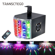 цена на 18W Led Laser Disco Light DMX 512 DJ RGB Party Lamp Sound Actived Disco Lamp Moving Head Projector Strobe Christmas Stage Light