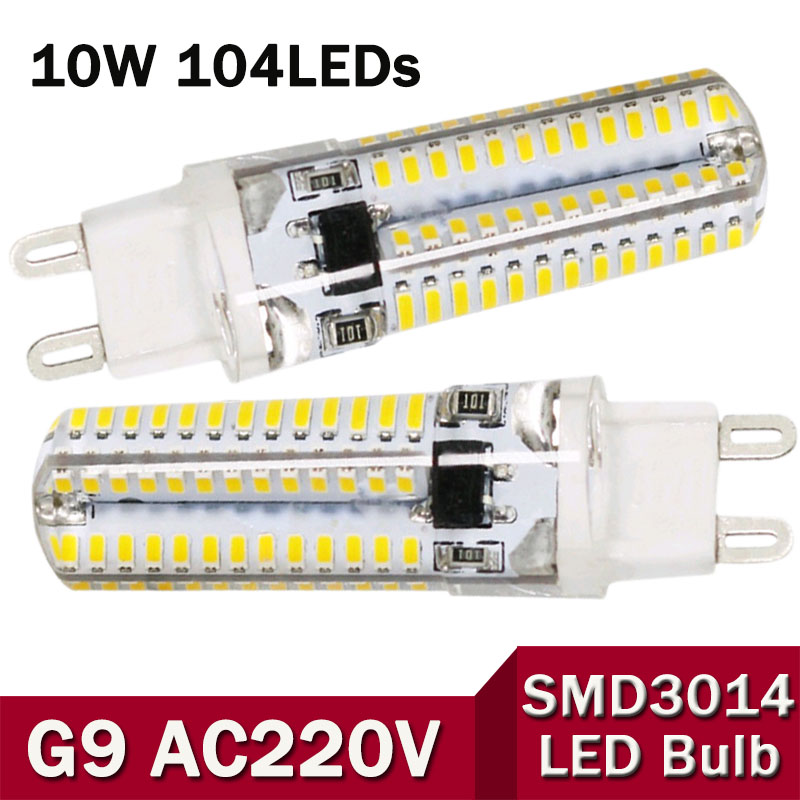 1Pcs Mini G9 5W 6W 7W 9w 10w High End Silicone Body LED lamp AC 110V / 220V 3014SMD LEDs light Bulb For Crystal Chandelier Drop