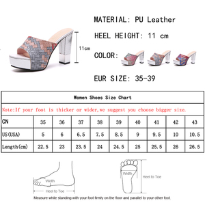 Image 5 - Lucyever 2019 New Women Summer Slippers Fashion Sexy Super Square High Heels Peep Toe Party Shoes Woman Platform Sandals
