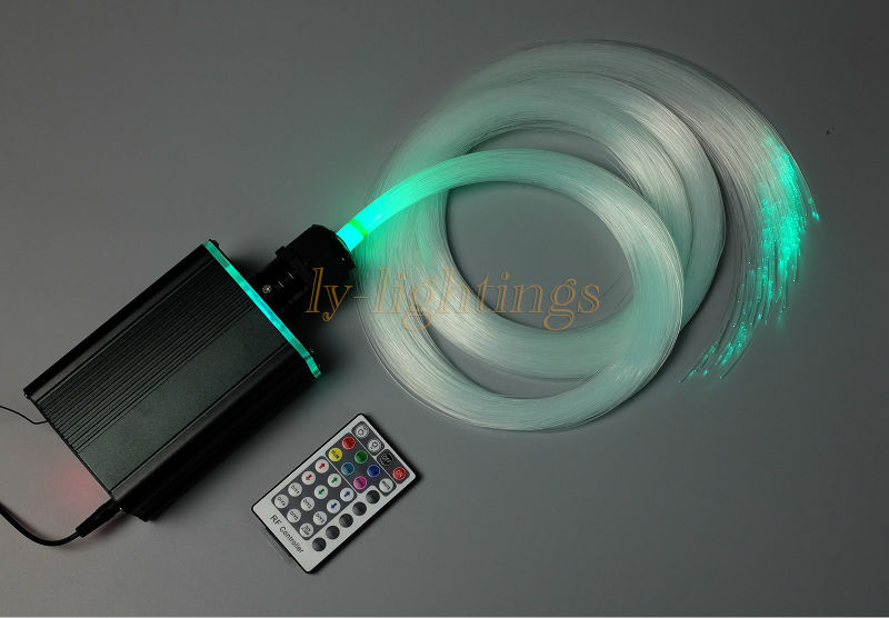Home decoration fiber optic light kit optical fiber spark stars celing light RGBW led light source+350pcs Top PMMA fibres new for sales decoration fiber optic light kit optical fiber stars celing light rgb w 18w led light source 0 75mmx3mx300 pmma fibre