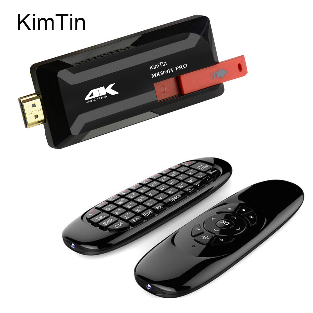 KimTin MK809 IV 4 K Pro Android TV Stick RK3229 Quad Core 2 GB 16 GB 4 K Android 7.1 TV Dongle Miracast WiFi lecteur multimédia intelligent