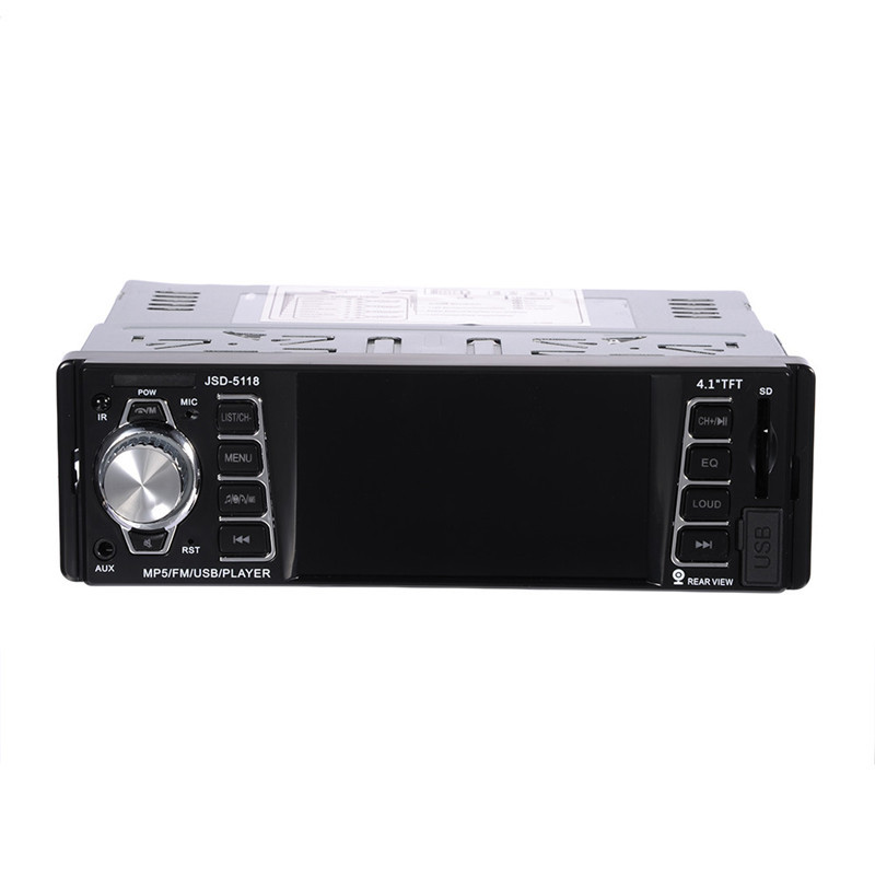 4.1 inch HD TFT 1 Din Autoradio Bluetooth Car Radio Sound Systems Head Unit With USB SD Aux A2DP ISO Connector аксессуар 5bites 3 5 jack m 3 5 jack m ac35j 030m 2m