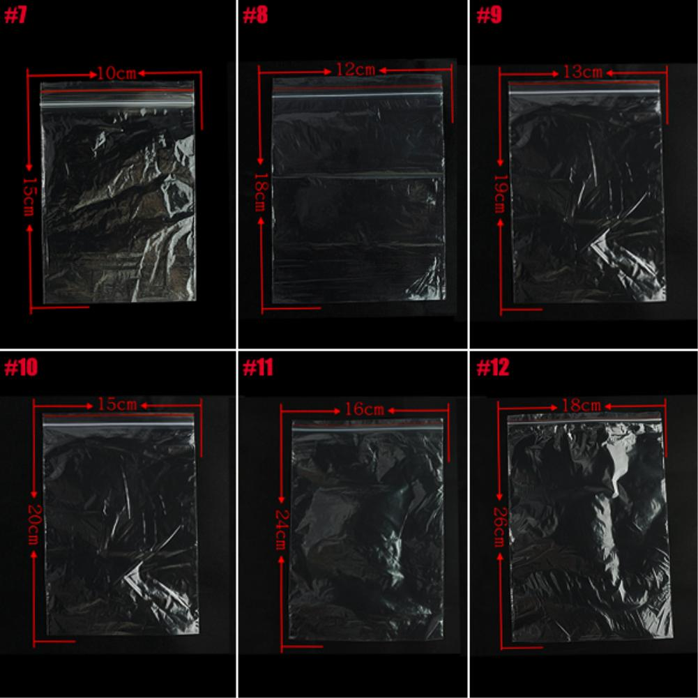 Image 5 - 100 Pcs Transparent Sundries Storages Waterproof Grip Self Seal Zip Lock Poly Plastic Zipper Bags Reclosable Storage Bags-in Storage Bags from Home & Garden