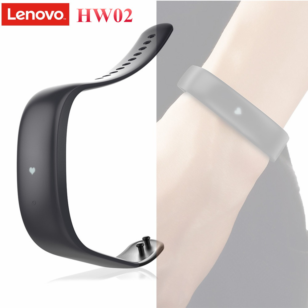 Original Lenovo HW02 Bluetooth 4.2 Smart Wristband Heart Rate Monitor Sports Fitness Tracker Bracelet Band for Android iOS Phone bluetooth sports heart rate monitor watches outdoor fitness tracker for ios android phone