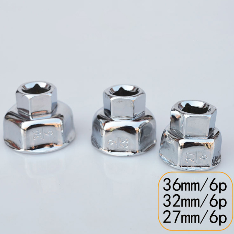 1/2 Drive filtre À Huile clé cap logement removal tool 6 flûtes 27 MM 32 MM 36 MM
