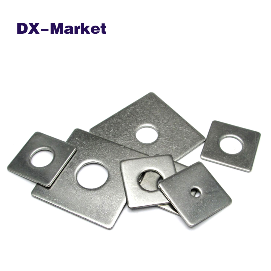 M3-M16 square washer , 304 stainless steel square flat washers