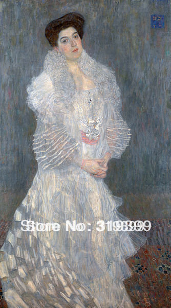 Gustav Klimt  Oil Painting reproduction on Linen Canvas,Portrait of Hermine Gallia,Fast Shipping,handmade,Museum QualityGustav Klimt  Oil Painting reproduction on Linen Canvas,Portrait of Hermine Gallia,Fast Shipping,handmade,Museum Quality