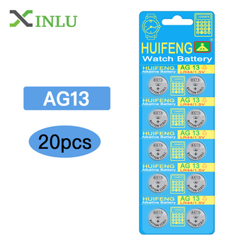 Ship from RU 20pcs AG13 G13 LR44 SR44SW SP76 L1154 RW82 RW42 357A button cell watch coin battery batteries цена 2017