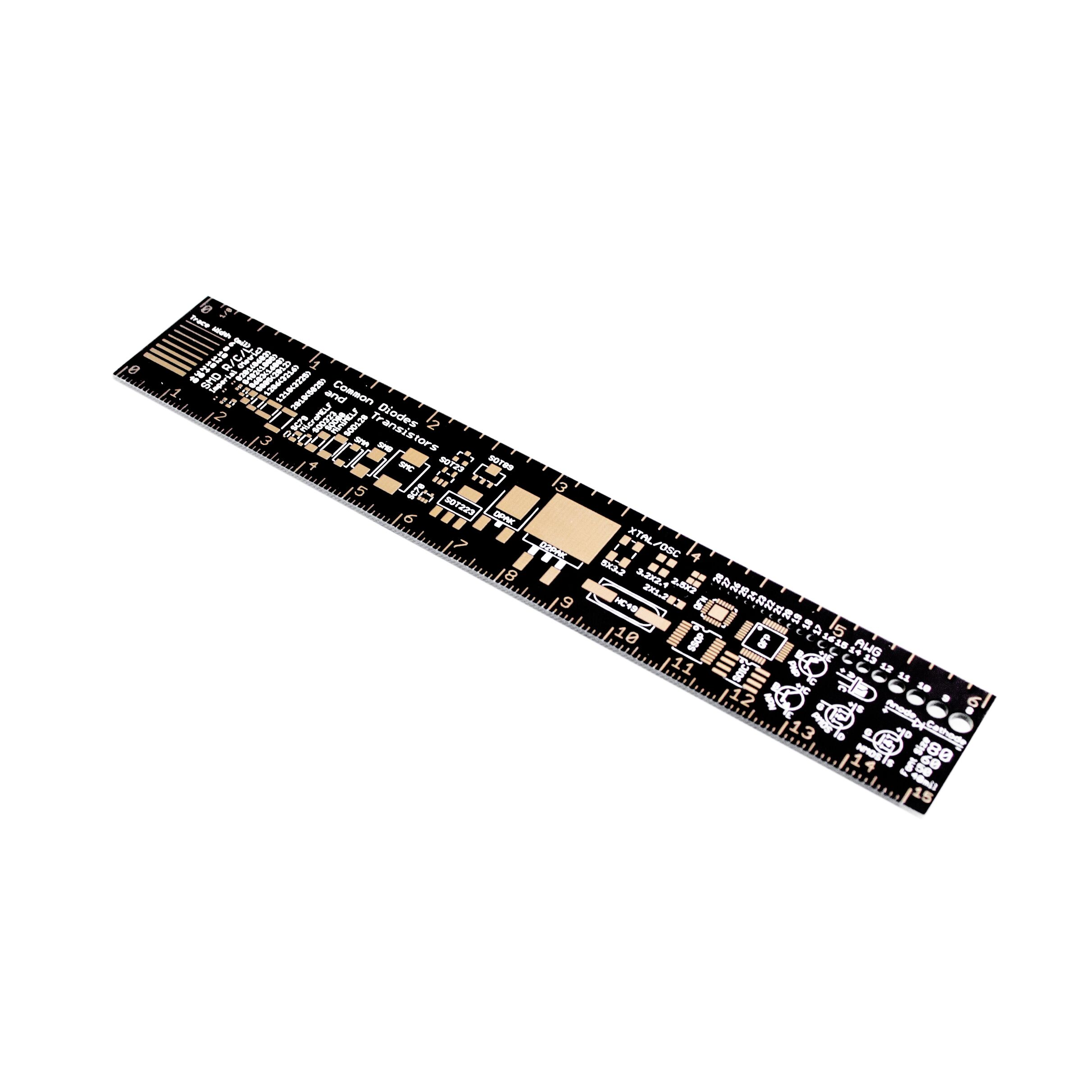 10PCS*/LOT PCB Reference Ruler v2 - 6 PCB Packaging Units for Arduino Electronic Engineers 15cm