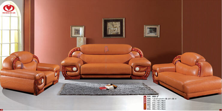 living room furniture modern leather sofa 9567