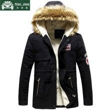 Parka Men Hot Sale Winter Jacket Men Thick Slim Fur Hooded Outwear War