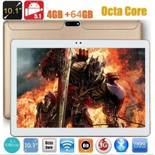 Free shipping 10 inch Android 7.0 Tablet PC 4GB RAM 64GB ROM Octa Core dual cameras 5.0MP  IPS 1280*800 GPS phone Tablets
