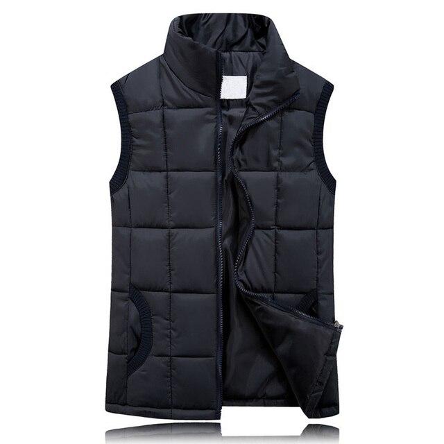 BOoDinerinle Cộng Với Kích Thước Phụ Nữ Mỏng Xuống Bông Vest Màu Rắn Đơn Giản Ấm Thời Trang Cổ Điển Phong Cách 10 màu sắc chaleco mujer MY026