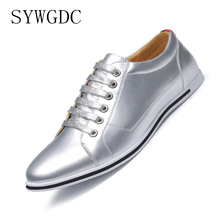 SYWGDC Men Casual Shoes Brand Men Shoes Men Sneakers Flats Lace -up Oxford Breathable Big Size 38~50 Footwear For Male 2018 men casual shoes brand men leather shoes sneakers men flats lace up genuine split leather shoes plus big size spring autumn