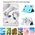 Универсальный чехол для планшета 9 6 9 7 10 10 1 10 5 дюйма  Чехол для iPad Pro Air 2018  Samsung  Huawei  искусственная кожа  с подставкой