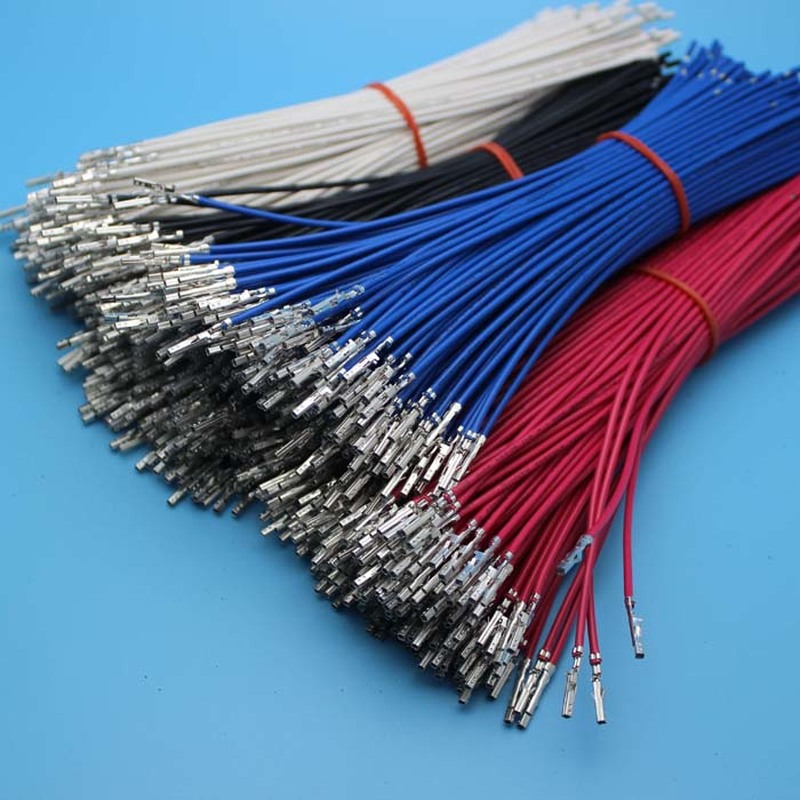 10PCS 5556 Female Pin Crimp With Cables For 4.2mm 5557 Housing Multicolor 1007 18AWG 20CM Single End