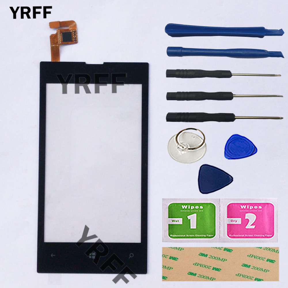 4'' Mobile Touch Screen Glass For Nokia Lumia 520 525 N520 N525 Touch Screen Digitizer Touchscreen Front Glass Lens Panel Tools