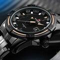 Naviforce marca de lujo de los hombres militares relojes deportivos hombres de acero completo impermeable hombre reloj de cuarzo negro reloj relogio masculino