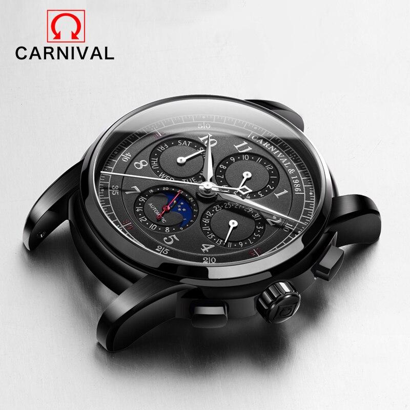Multifunktions Herren Uhren Casual Mechanische Uhren Männer pilot Top Marke Luxus Wasserdichte Uhr Relogio Masculino Uhr NEUE-in Mechanische Uhren aus Uhren bei  Gruppe 1