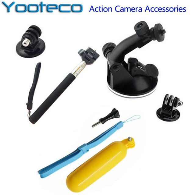 Gopro Accessories Set Monopod Suction Cup Floaty Bobber For Go pro Hero SJCAM SJ4000 SJ5000 Xiaomi YI Eken H9 H9R Sport camera