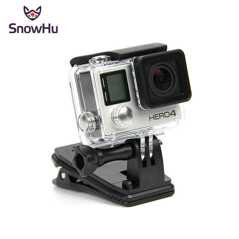 SnowHu for Gopro accessories 360 Degree Rotary Backpack Hat Clip Fast Clamp Mount For Go Pro Hero 7 6 5 4 3+ xiaomi yi 4k GP138A