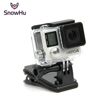 SnowHu for Gopro accessories 360 Degree Rotary Backpack Hat Clip Fast Clamp Mount For Go Pro Hero 7 6 5 4 3+ xiaomi yi 4k GP138A цена 2017