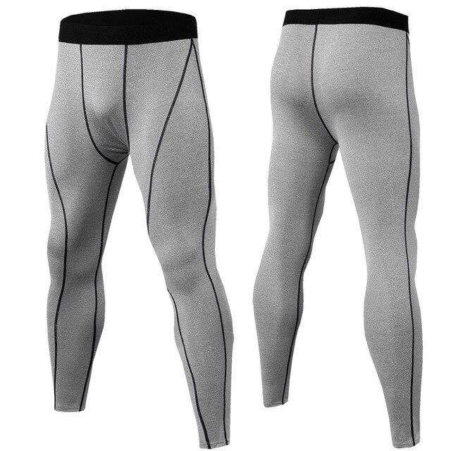 Mens דחיסת מכנסיים ספורט ריצת מכנסיים כדורסל חדר כושר מכנסיים פיתוח גוף רצים ריצה כושר סקיני חותלות מכנסיים