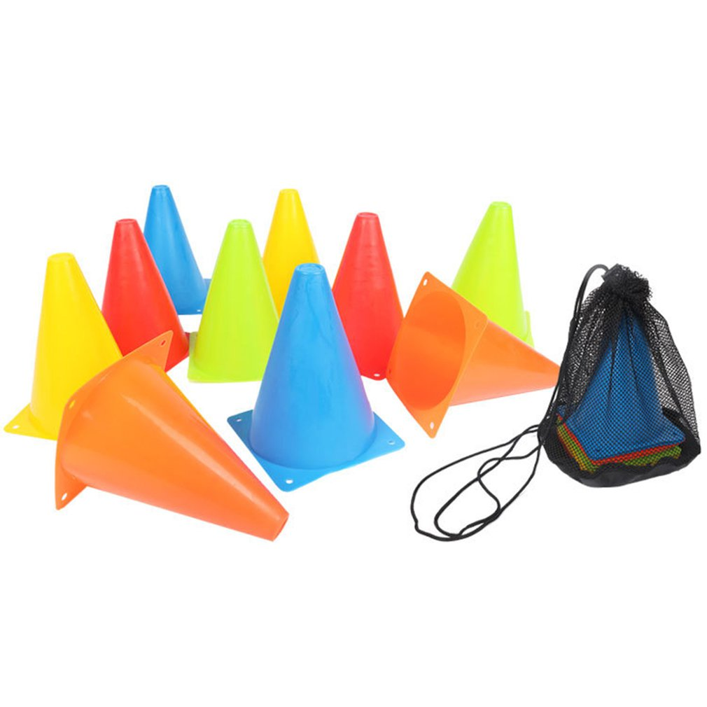 Soccer Football Training Sport Safety Equipment Agility Training Mark Skating Mark Cone Freestyle Obstacle Skating Pile Cup With Bags Soccers